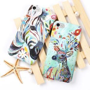Accessories - NEW iPhone X/XS/7/8/Plus Animal Oil Paint Case